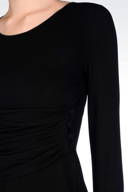 DRESS IN VISCOSE BLEND: Jersey dresses Women by Armani - 5