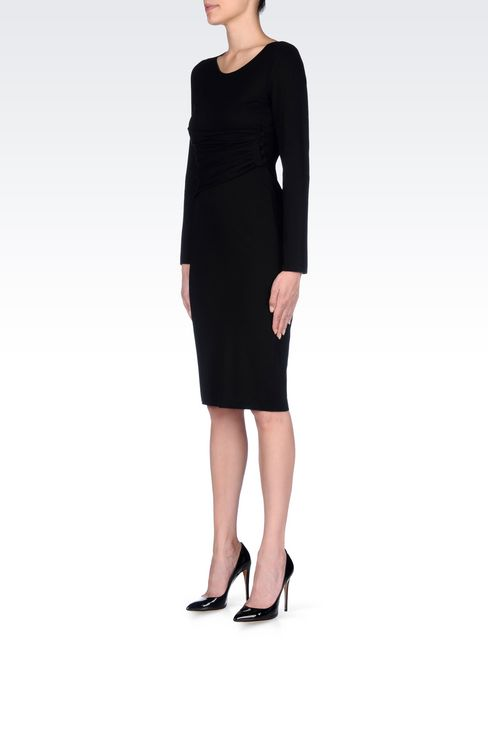 DRESS IN VISCOSE BLEND: Jersey dresses Women by Armani - 3
