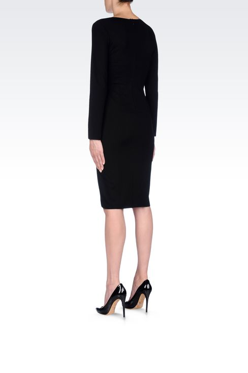 DRESS IN VISCOSE BLEND: Jersey dresses Women by Armani - 4