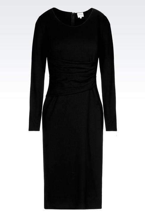 DRESS IN VISCOSE BLEND: Jersey dresses Women by Armani - 1
