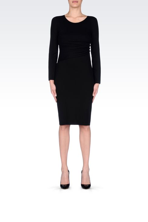 DRESS IN VISCOSE BLEND: Jersey dresses Women by Armani - 2