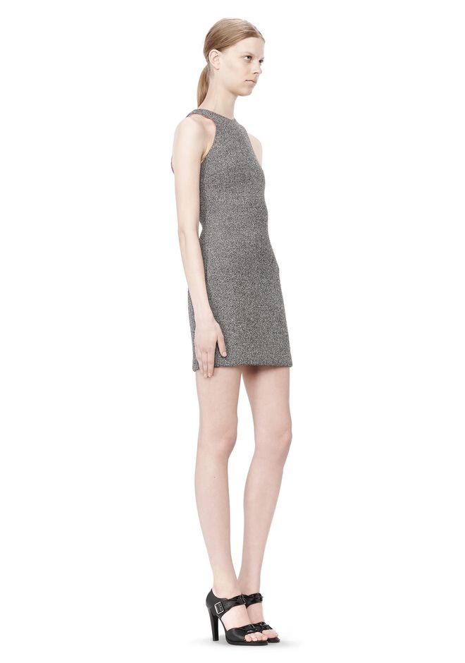 T by ALEXANDER WANG MESH BONDED NEOPRENE SLEEVELESS DRESS Short Dress Adult 12_n_e