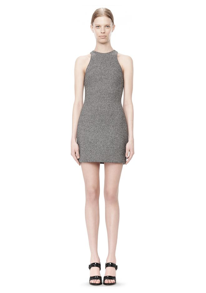 T by ALEXANDER WANG MESH BONDED NEOPRENE SLEEVELESS DRESS Short Dress Adult 12_n_f