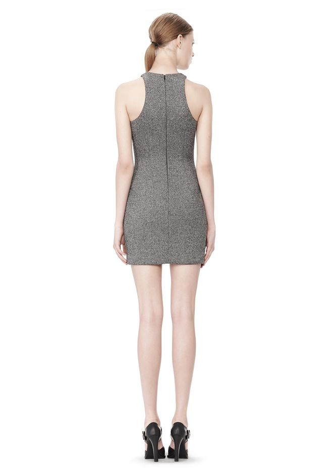 T by ALEXANDER WANG MESH BONDED NEOPRENE SLEEVELESS DRESS Short Dress Adult 12_n_r