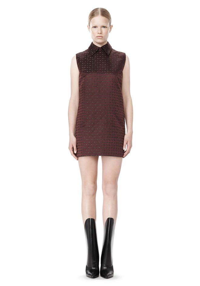 ALEXANDER WANG SHORT SLEEVE TUNIC DRESS WITH SHIRT COLLAR