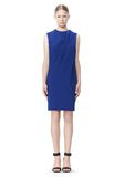 ALEXANDER WANG EXCLUSIVE DRAPED CREW NECK DRESS WITH SATIN YOKE Short Dress Adult 8_n_f