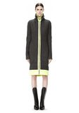 ALEXANDER WANG TRACK DRESS WITH CONTRAST HEM KNIT DRESS Adult 8_n_d