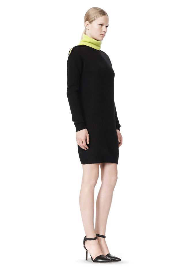 ALEXANDER WANG SPLITTABLE TURTLENECK DRESS KNIT DRESS Adult 12_n_e