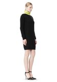 ALEXANDER WANG SPLITTABLE TURTLENECK DRESS KNIT DRESS Adult 8_n_e