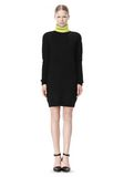 ALEXANDER WANG SPLITTABLE TURTLENECK DRESS KNIT DRESS Adult 8_n_f