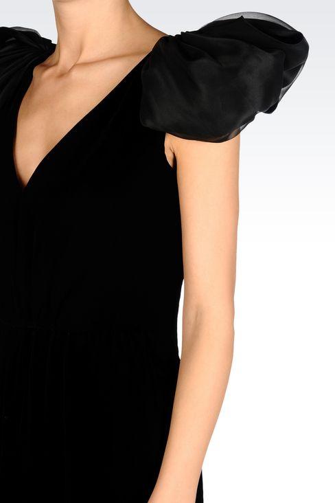 LONG EVENING DRESS IN VELVET: Long dresses Women by Armani - 5