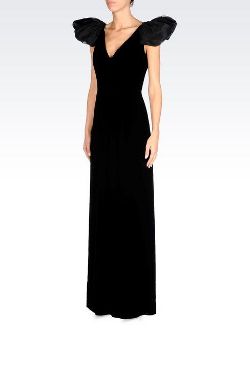 LONG EVENING DRESS IN VELVET: Long dresses Women by Armani - 3