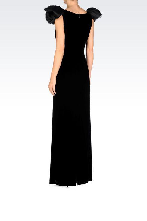 LONG EVENING DRESS IN VELVET: Long dresses Women by Armani - 4