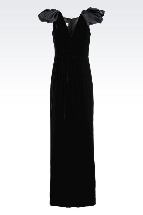 LONG EVENING DRESS IN VELVET: Long dresses Women by Armani - 1