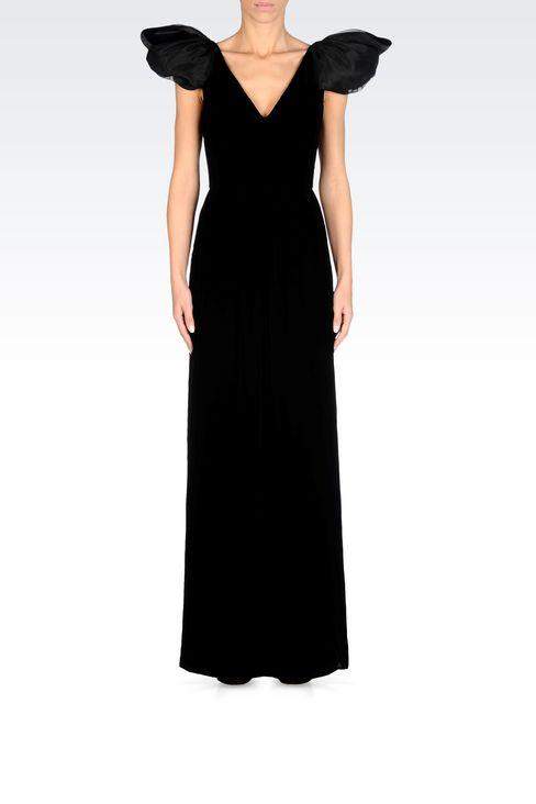 LONG EVENING DRESS IN VELVET: Long dresses Women by Armani - 2