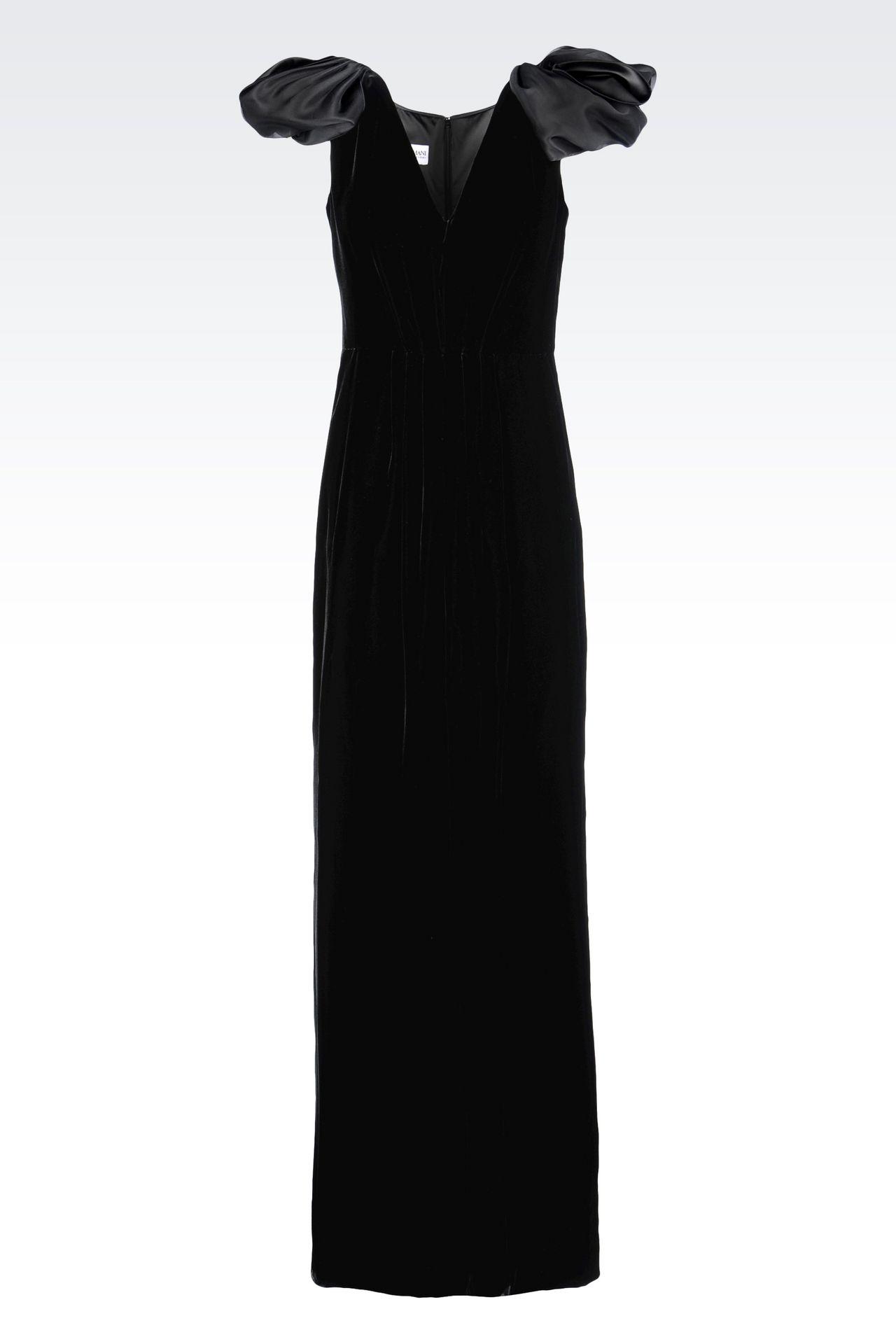 LONG EVENING DRESS IN VELVET: Long dresses Women by Armani - 0