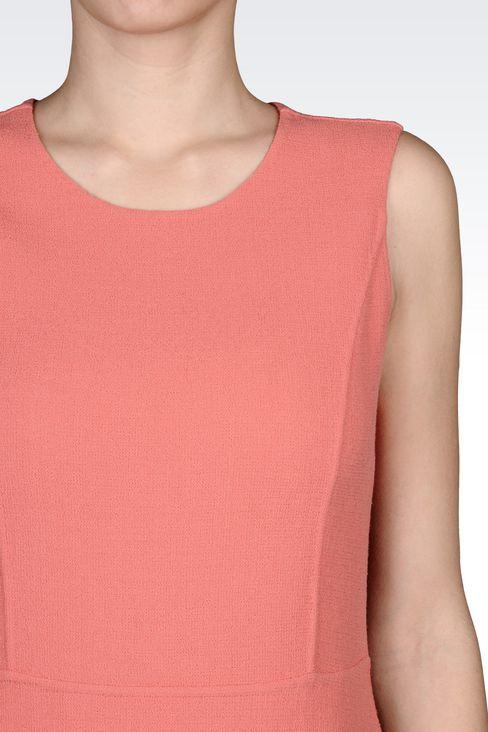 SHEATH IN WOOL CRÊPE: Short Dresses Women by Armani - 5