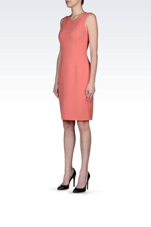 SHEATH IN WOOL CRÊPE: Short Dresses Women by Armani - 3