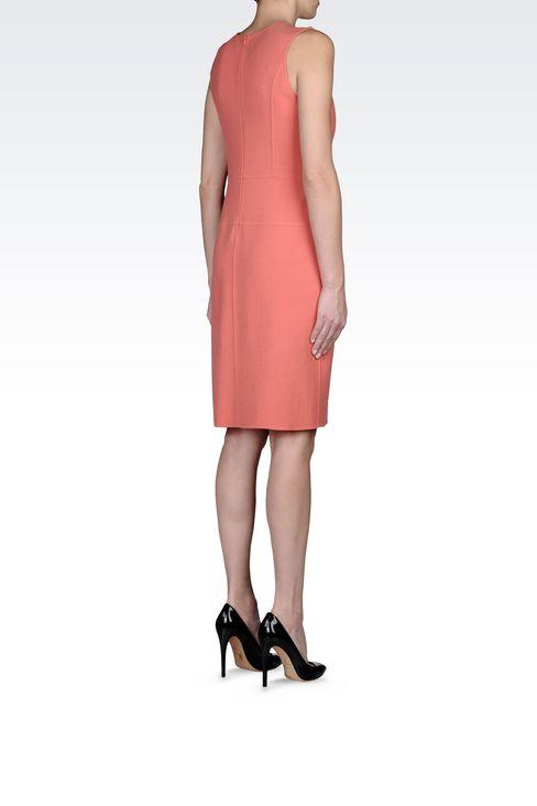 SHEATH IN WOOL CRÊPE: Short Dresses Women by Armani - 4