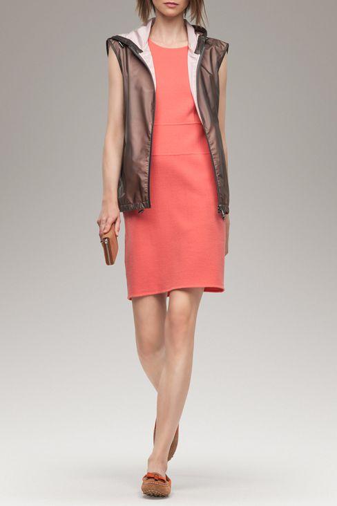 SHEATH IN WOOL CRÊPE: Short Dresses Women by Armani - 2