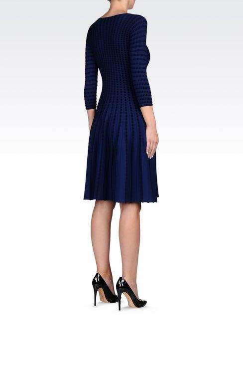 PLISSÉ DRESS IN VISCOSE BLEND: Short Dresses Women by Armani - 4