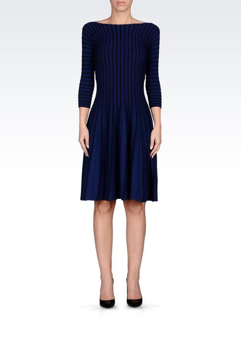 PLISSÉ DRESS IN VISCOSE BLEND: Short Dresses Women by Armani - 2