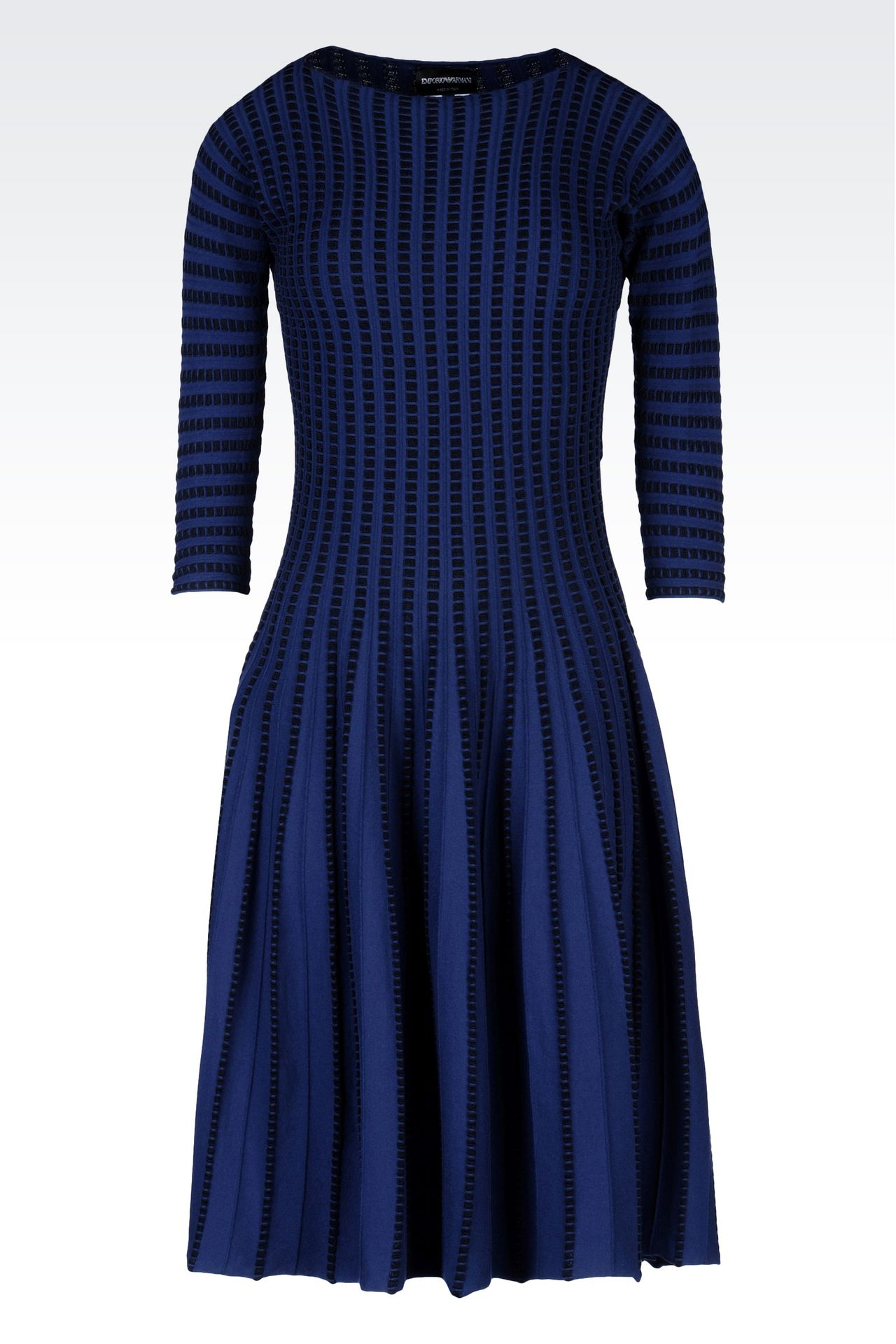 PLISSÉ DRESS IN VISCOSE BLEND: Short Dresses Women by Armani - 0