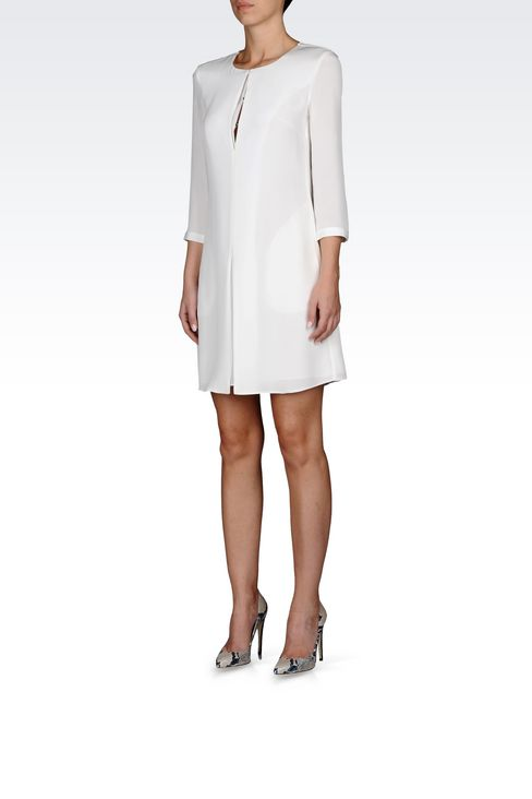 SHIRT DRESS IN SILK: Long-sleeved dresses Women by Armani - 3