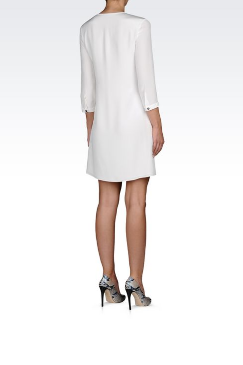 SHIRT DRESS IN SILK: Long-sleeved dresses Women by Armani - 4