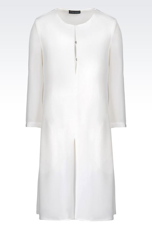 SHIRT DRESS IN SILK: Long-sleeved dresses Women by Armani - 1
