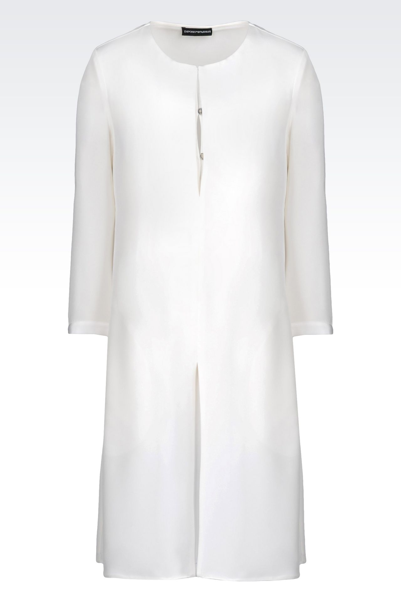 SHIRT DRESS IN SILK: Long-sleeved dresses Women by Armani - 0