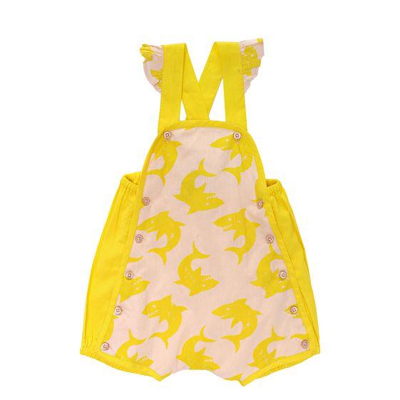 STELLA McCARTNEY KIDS, Dresses & All-in-one, SANDY SHARK PRINT OVERALLS