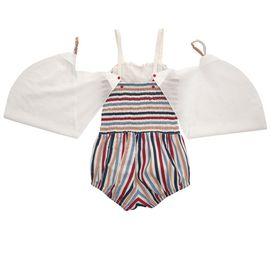STELLA McCARTNEY KIDS, Dresses & All-in-one, BONNIE STRIPED ALL-IN-ONE