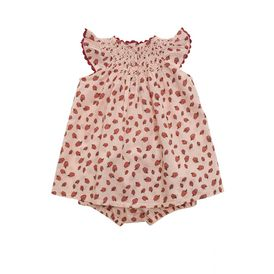 STELLA McCARTNEY KIDS, Dresses & All-in-one, SAGE APPLE PRINT DRESS