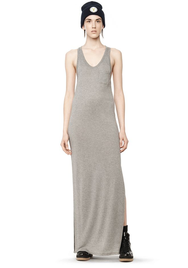 T by ALEXANDER WANG t-by-alexander-wang-classics CLASSIC TANK DRESS WITH CHEST POCKET