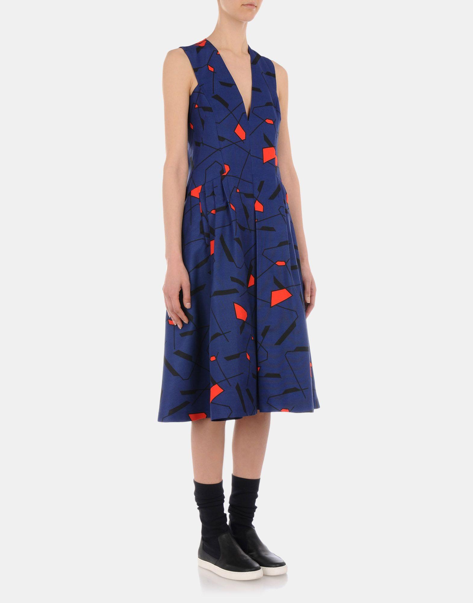 3/4 length dress - JIL SANDER NAVY Online Store