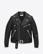 Motorcycle D-Ring Jacket in Black Leather