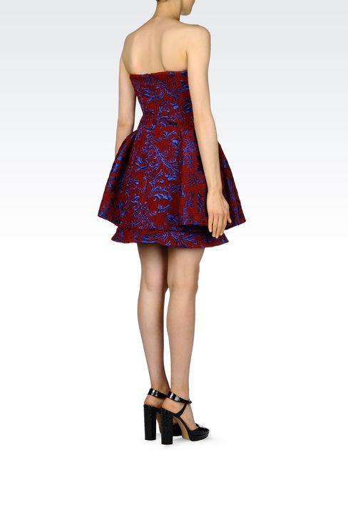 DAMASK RUNWAY DRESS: Short Dresses Women by Armani - 4