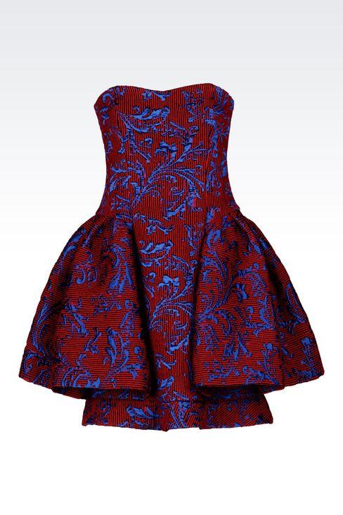 DAMASK RUNWAY DRESS: Short Dresses Women by Armani - 1