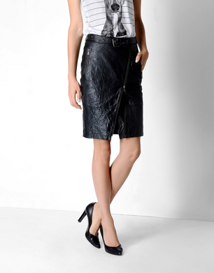 TRUSSARDI JEANS - Leather skirt