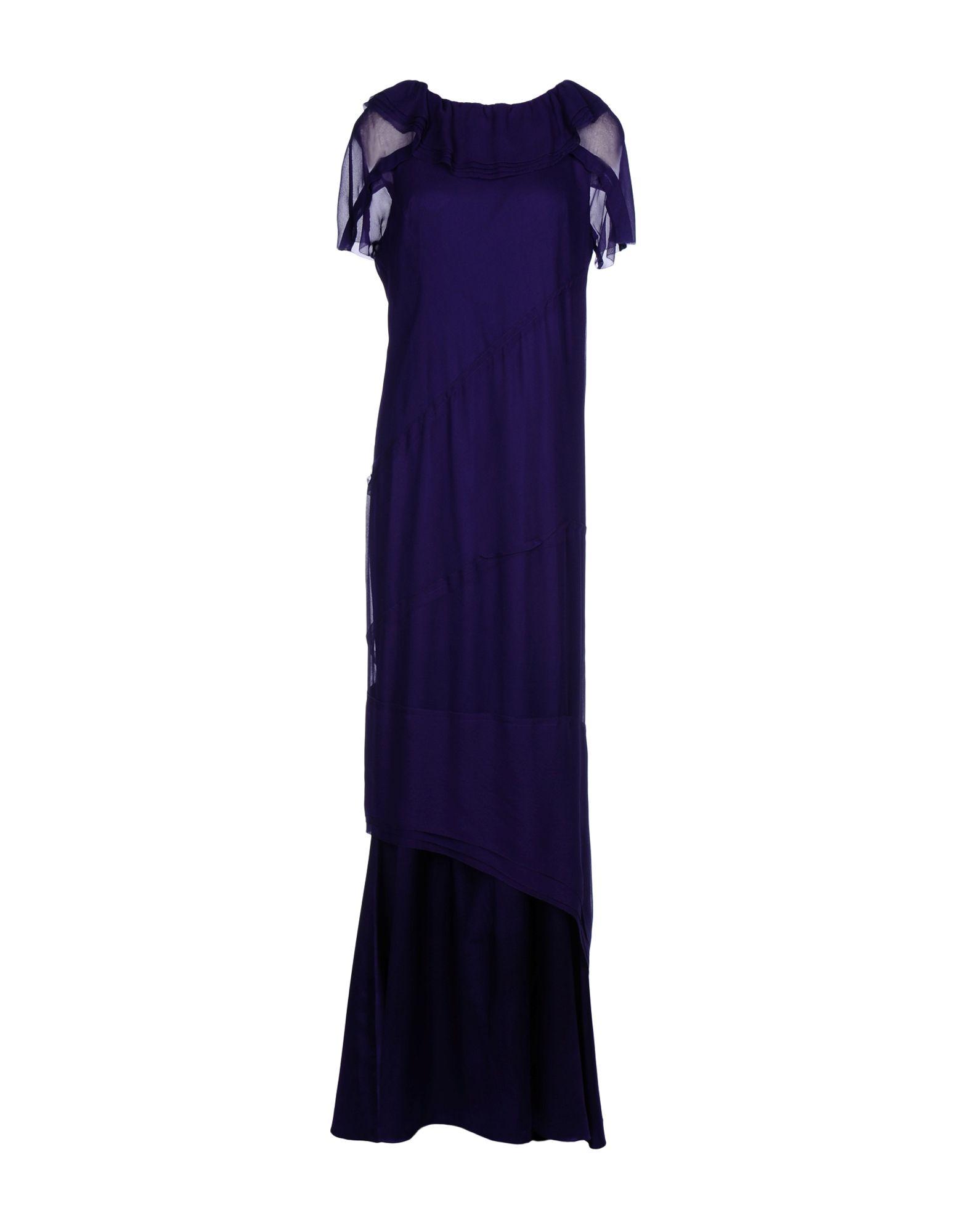 Robe longue vera wang femme. violet foncé. 44...