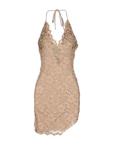 Короткое платье HOLT. Цвет: песочный