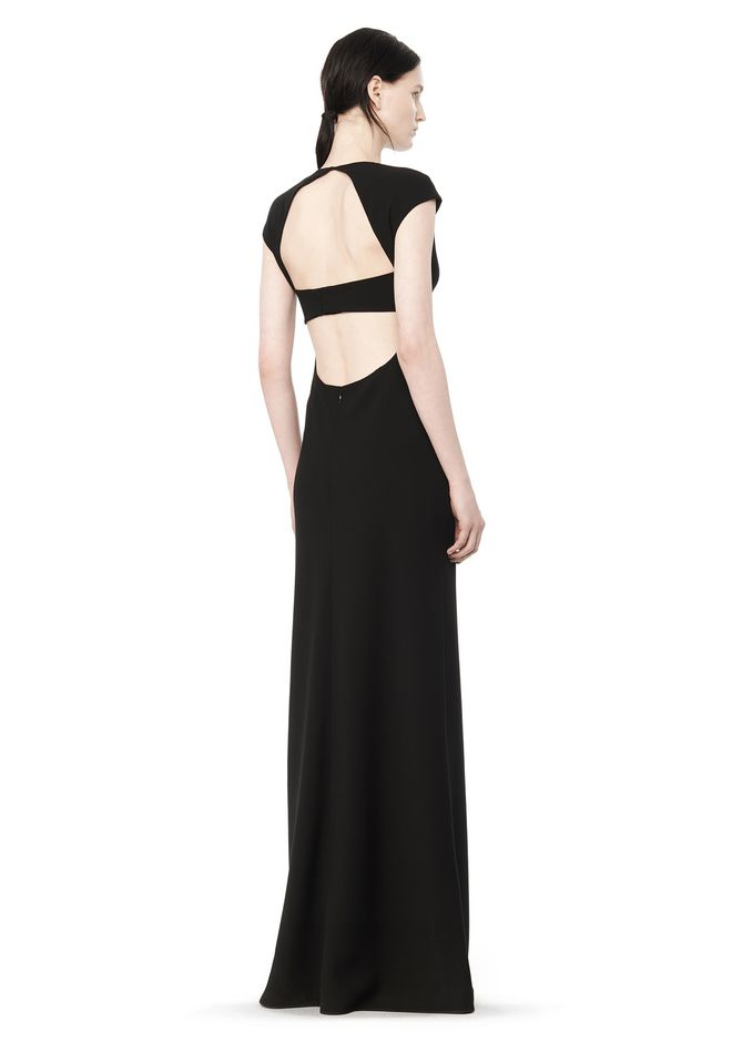 T by ALEXANDER WANG t-by-alexander-wang-sale MAXI DRESS WITH EXPOSED BACK