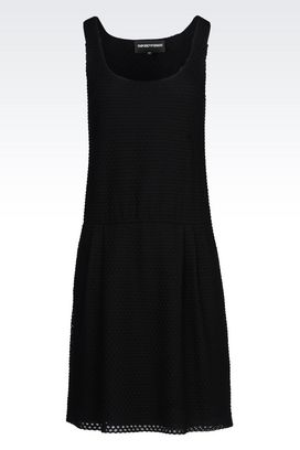 Armani Short Dresses Women dress in jacquard mesh