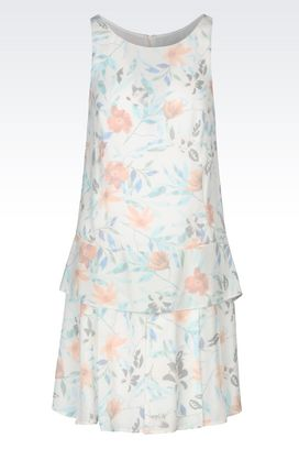 Armani Short Dresses Women dress in floral crêpe