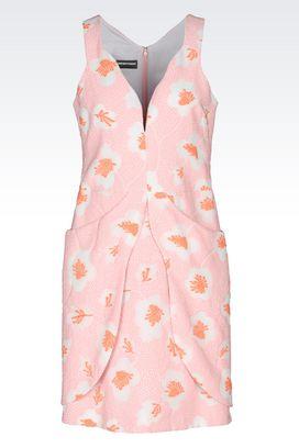 Armani Short Dresses Women dress in floral jacquard
