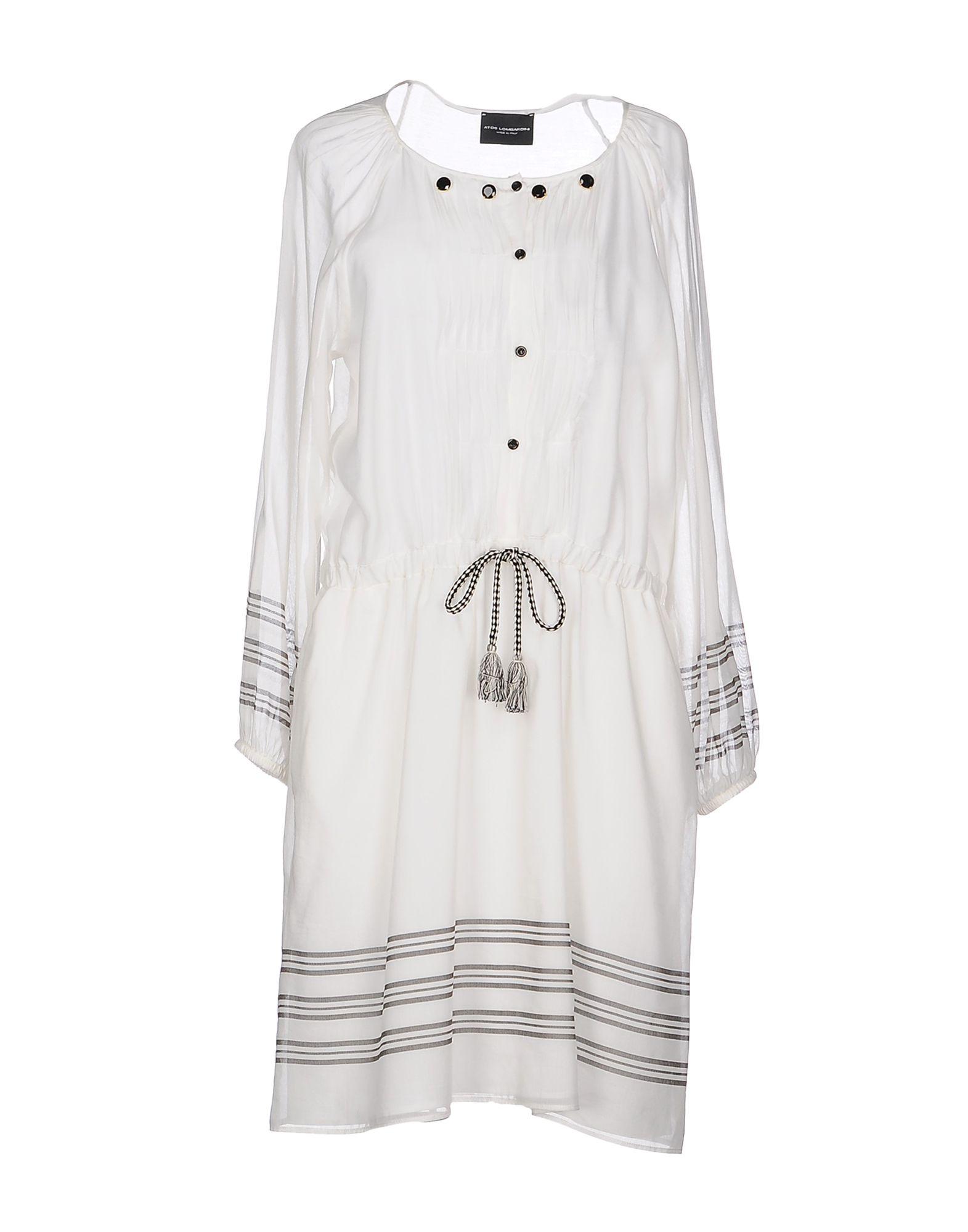ATOS LOMBARDINI Damen Kurzes Kleid Farbe Weiß Größe 3