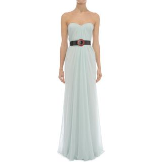ALEXANDER MCQUEEN, Long Dress, Draped Bustier Dress