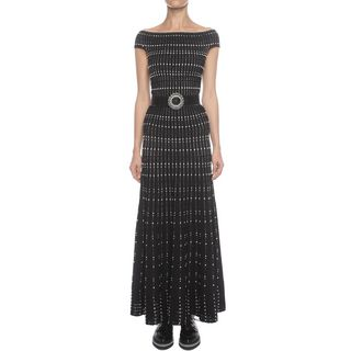 ALEXANDER MCQUEEN, Long Dress, Long Off Shoulder Knit Dress