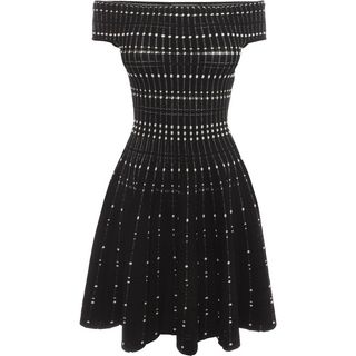 ALEXANDER MCQUEEN, Mini Dress, Mini Off Shoulder Knit Dress